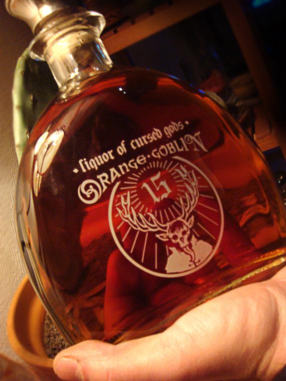 orange goblin cognac's bottle